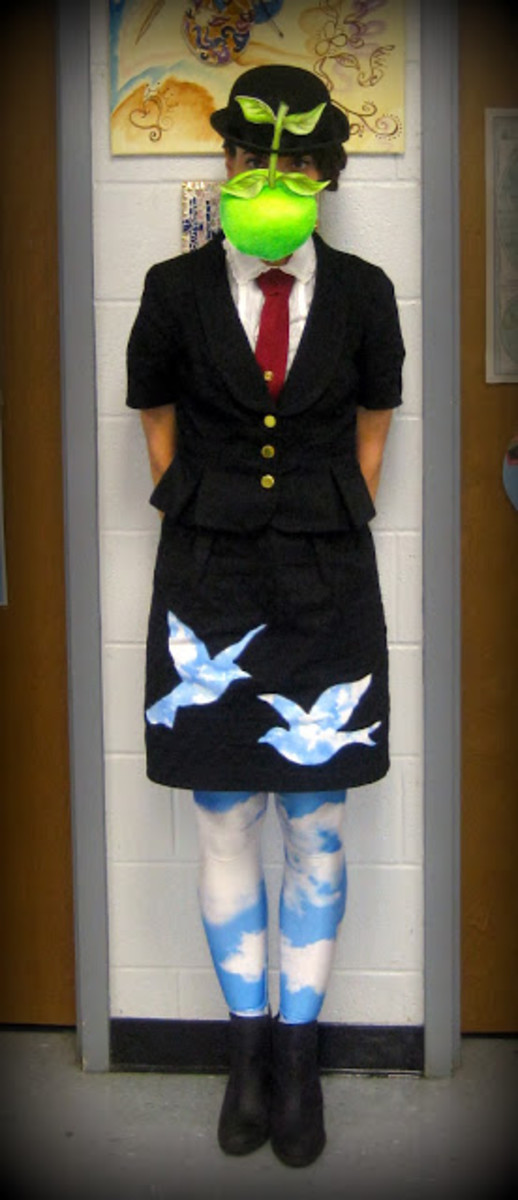 Magritte art is a great Halloween costume idea