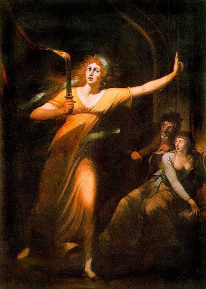 The sleepwalking Lady Macbeth Oil on Canvas (Johann Heinrich Füssli)