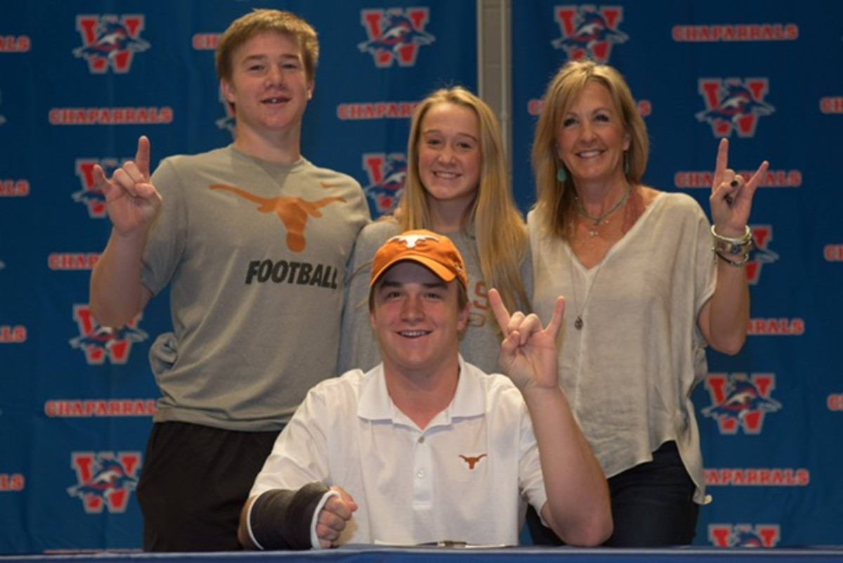 Sam (in front) officially becomes Longhorn.