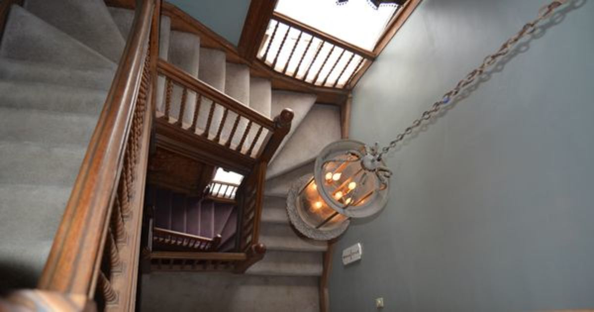 Staircase from the attic (now third floor)