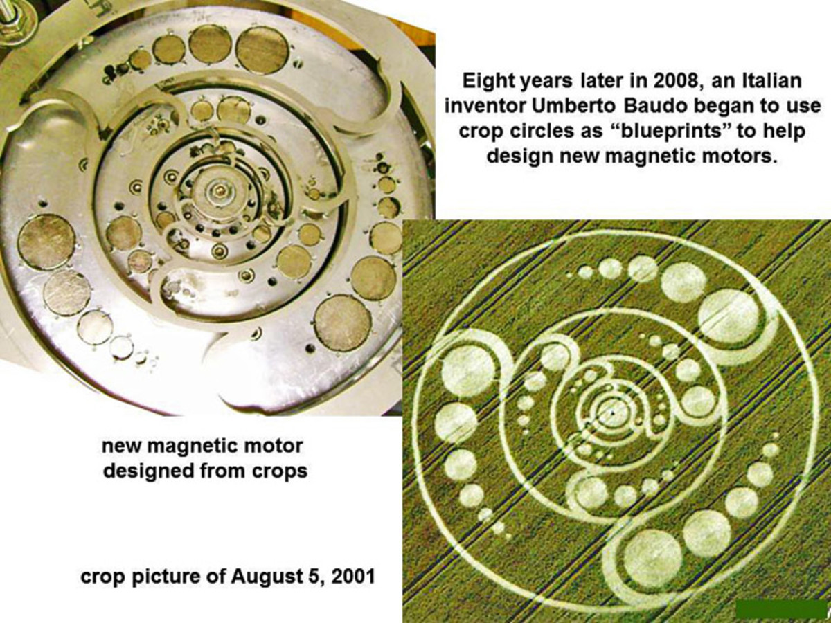 Italian inventor Umberto Baudo began using Crop Circles as blue prints to create new magnetic motors, using variations of the spinning disk concept.