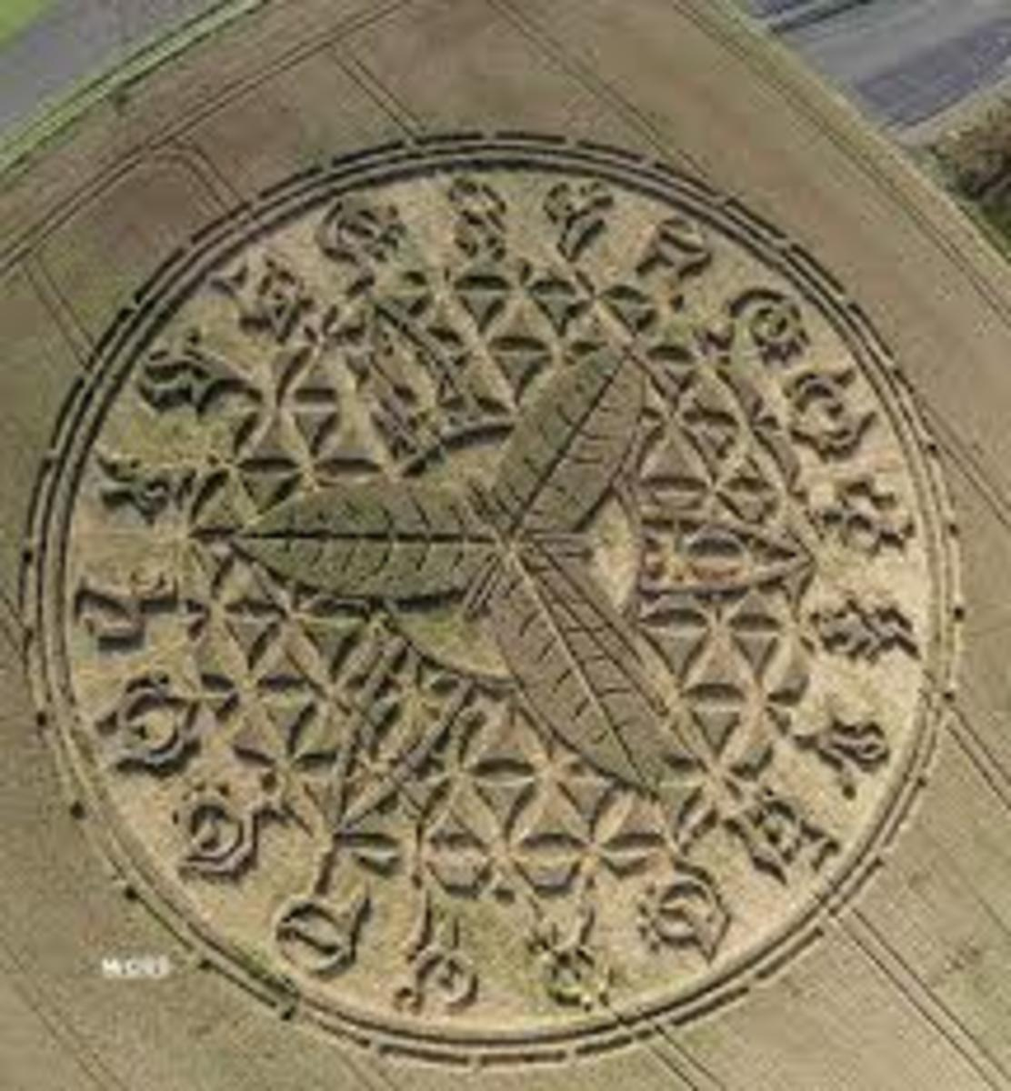 Here is Crop Circle that clearly depicts a plant in the middle. Could the message be that the energy used to create Crop Circles, also be used to create unlimited food supplies?