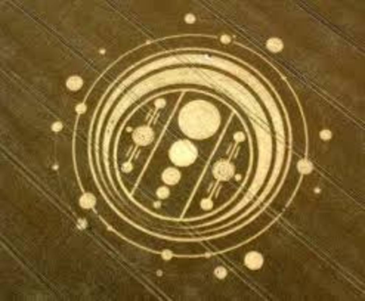 Does this Crop Circle not evoke an image of some sort of planetary diagram? Could this be a map showing how planets in our solar system react to one another as they orbit?