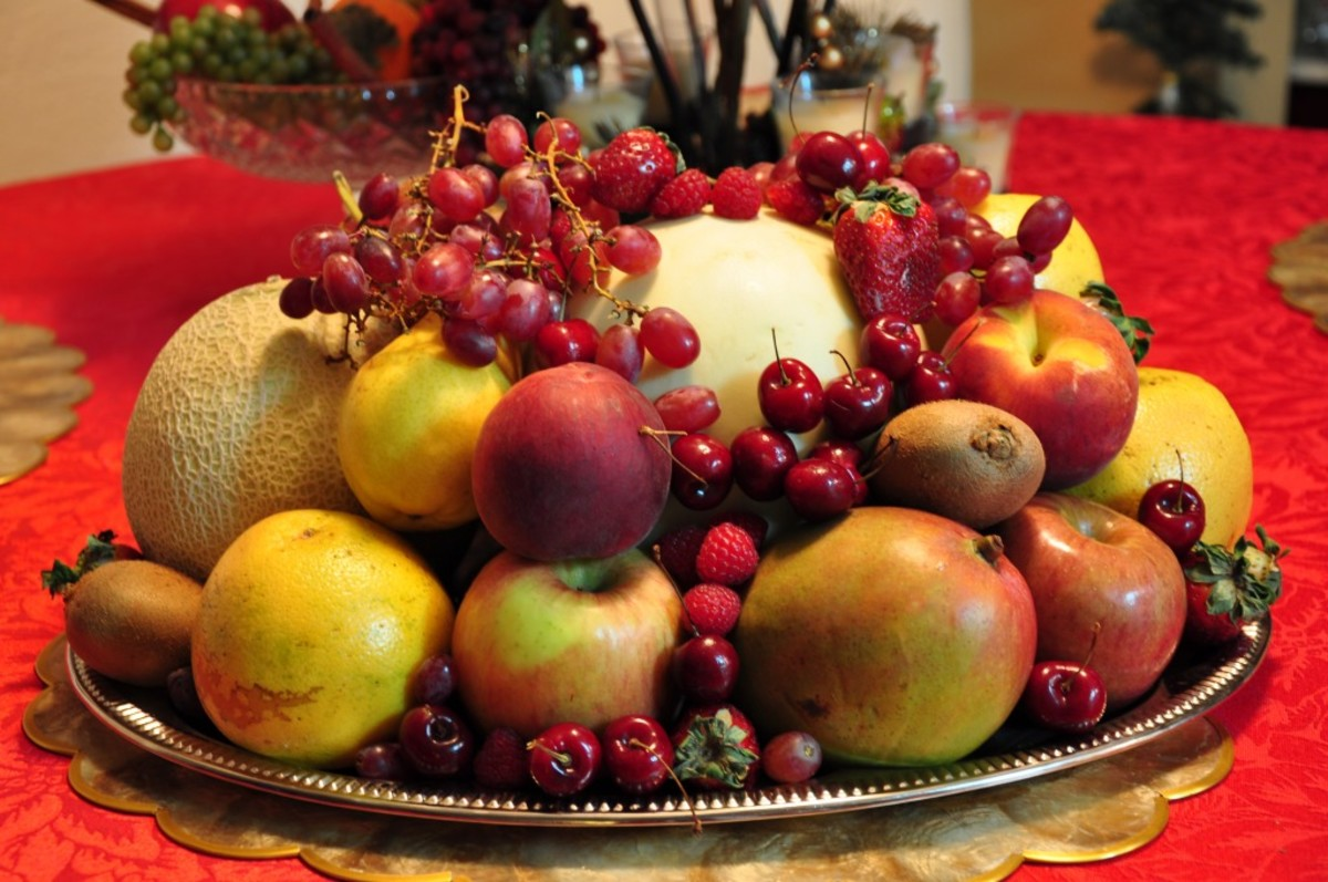 The New Year's Eve 12 round fruits.
