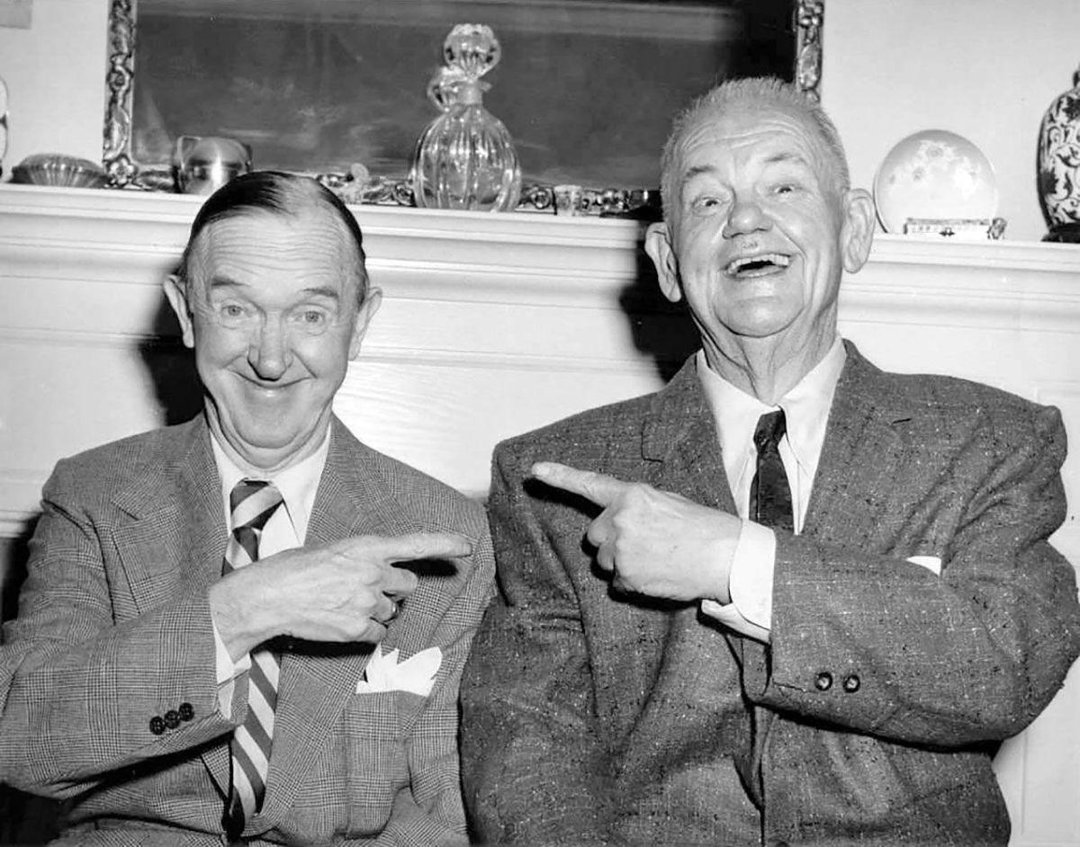 Laurel & Hardy in 1955.