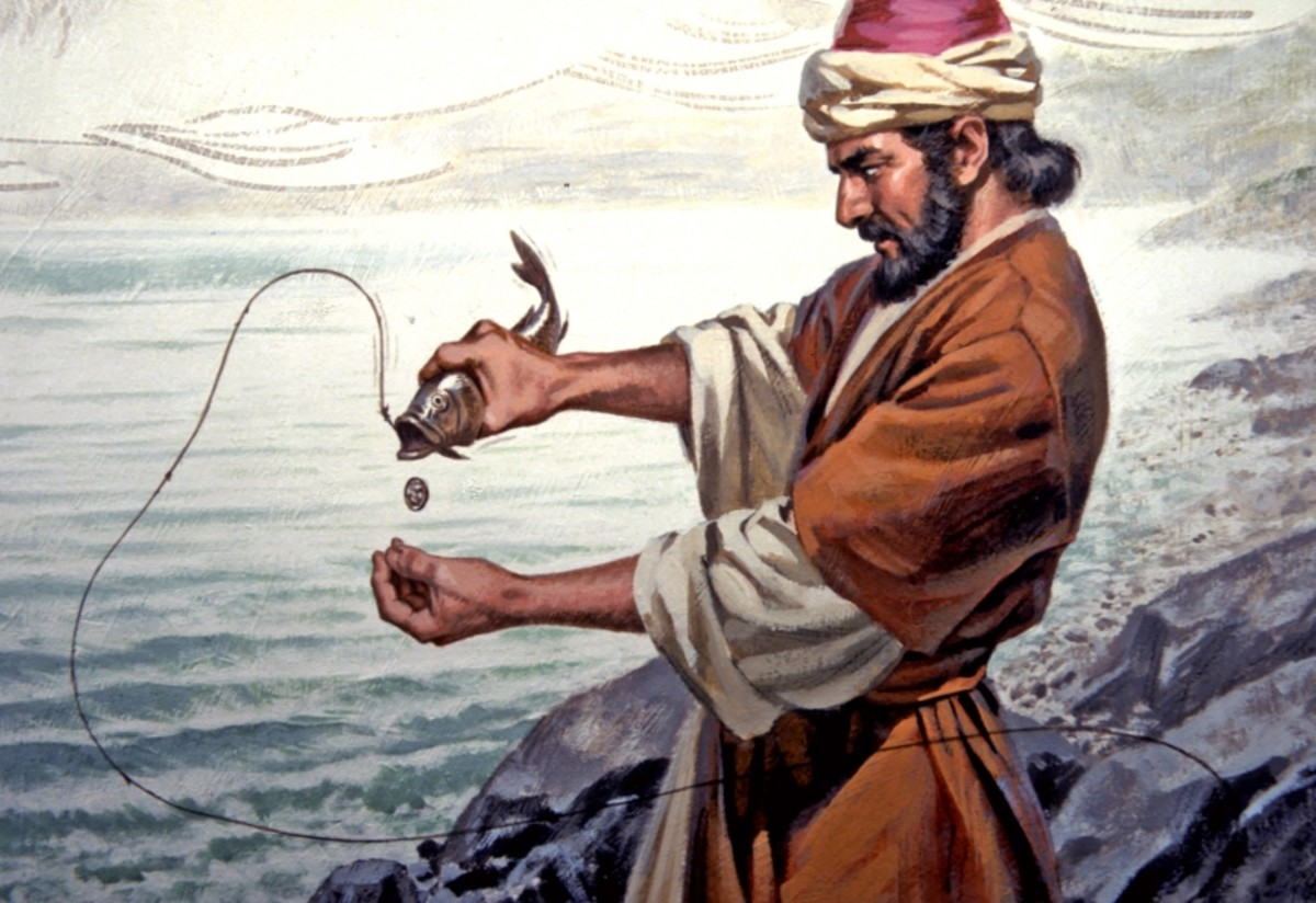 Peter, a fisherman and disciple of Jesus; writer of two books of Bible
