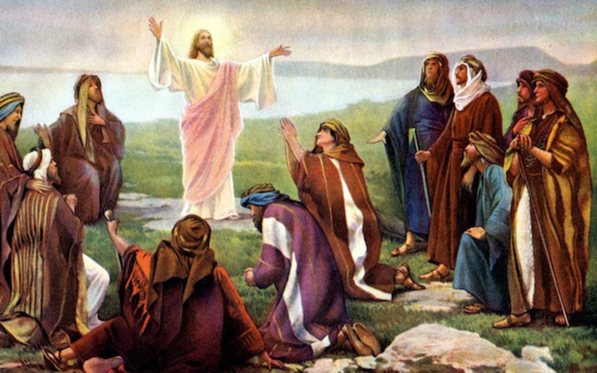 Jesus with 11 disciples