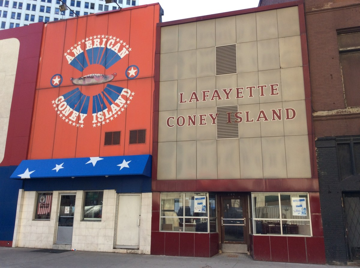 Detroit's Two Side by Side Coney Island Restaurants.