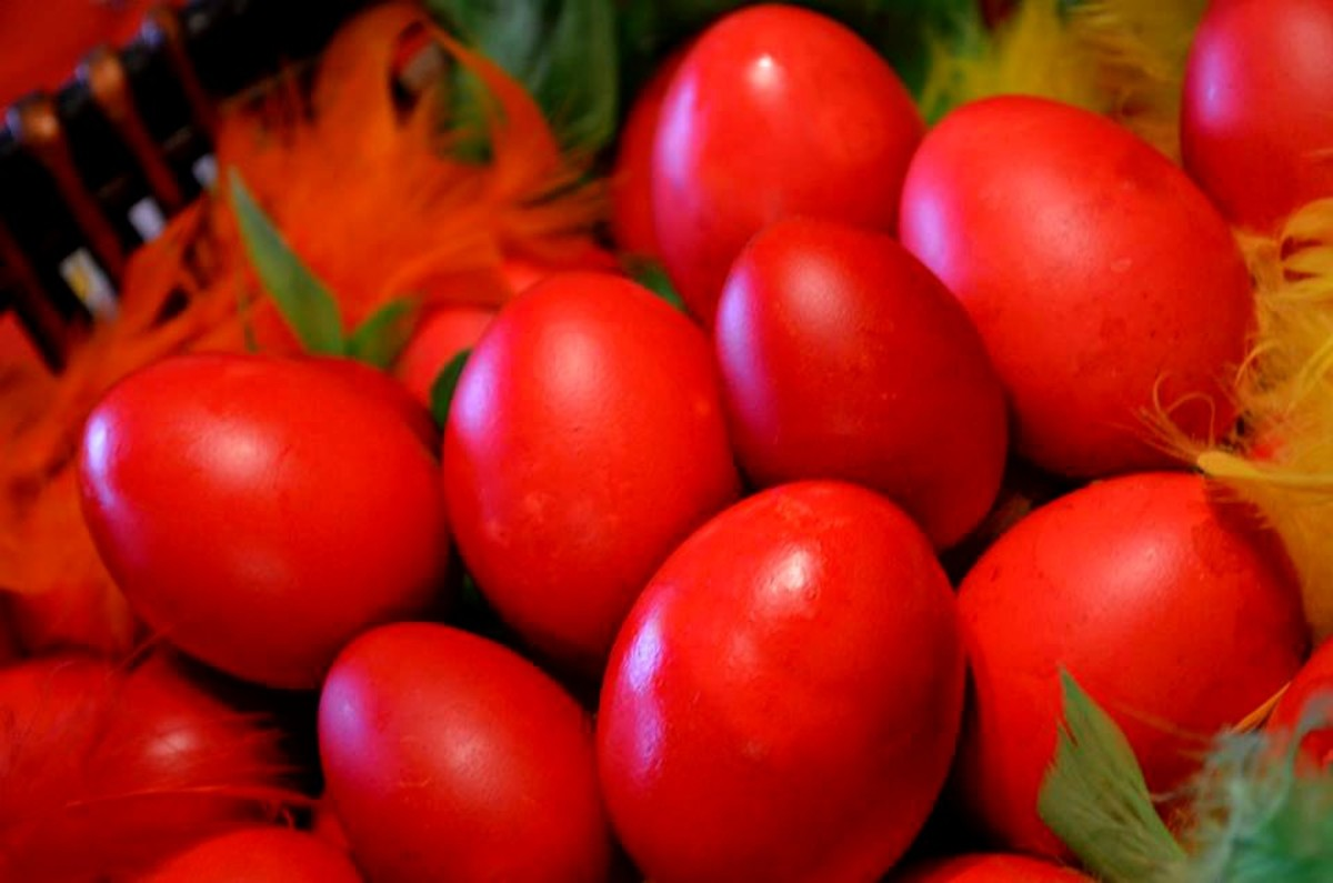 In Slovenia, Italy and Greece, eggs are still dyed red, symbolizing the resurrection of Jesus Christ.