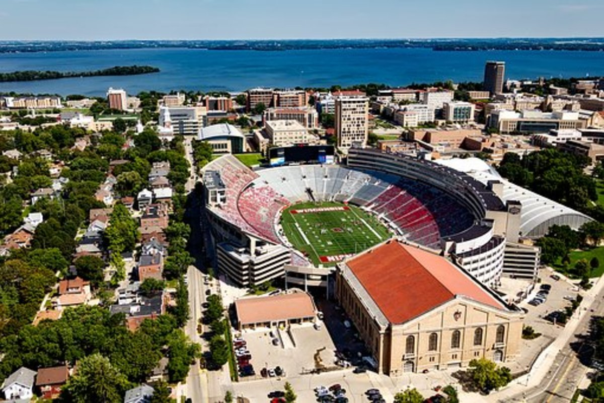 University of Wisconsin campus next to Lake Mendota in Madison