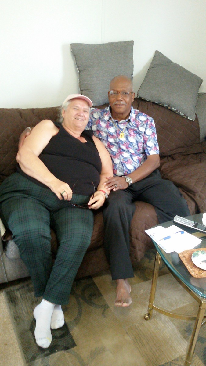 My sister Beatrice and brother-in-law Ernest. Taken in 2018.