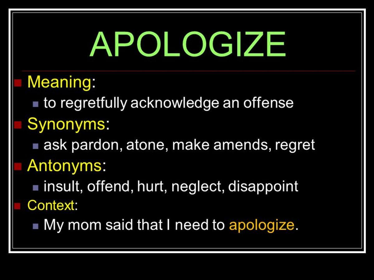 Apologize definition