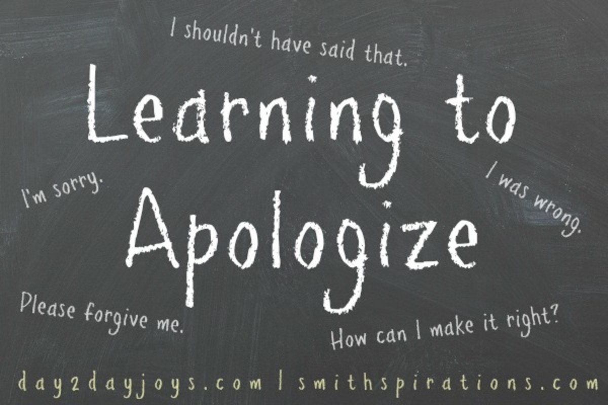 Learn to apologize the right way.