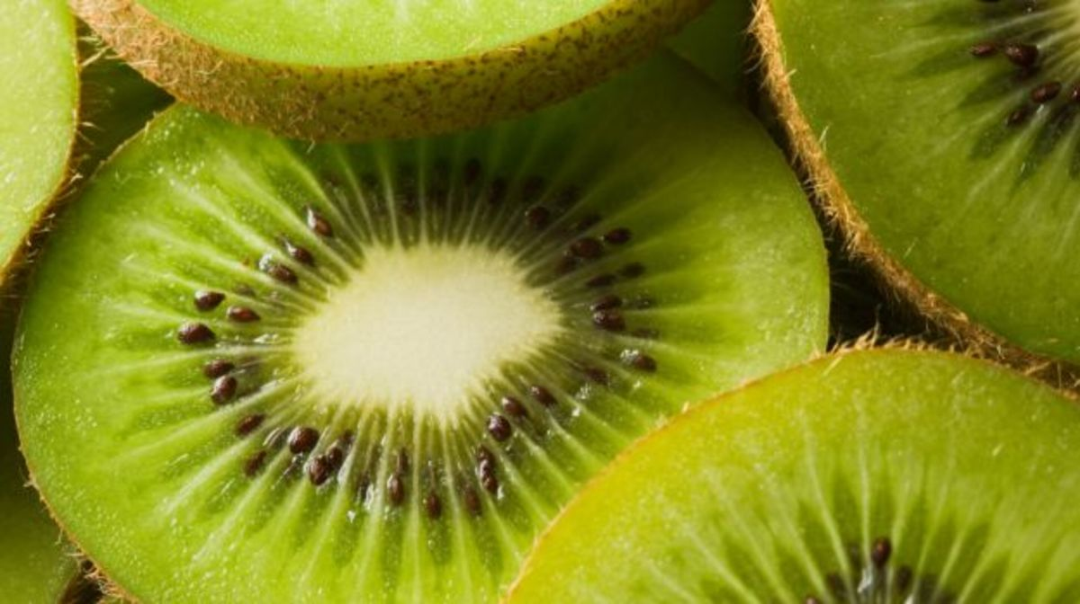 When eaten ripe, Kiwi Fruit is tangy-and-tart, a pleasing combination.