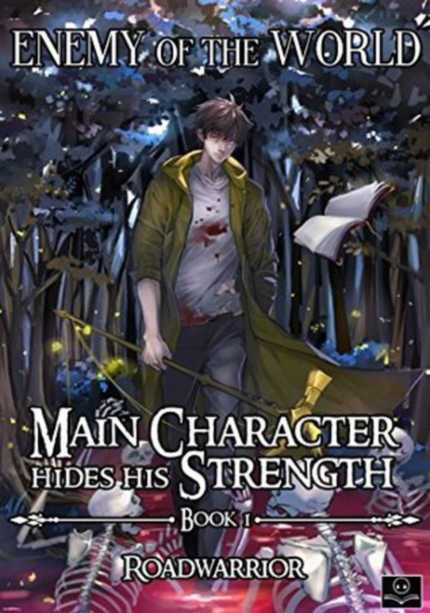 "Official ""Main Character Hides His Strength (Enemy of the World)"" Korean Web Novel Cover"