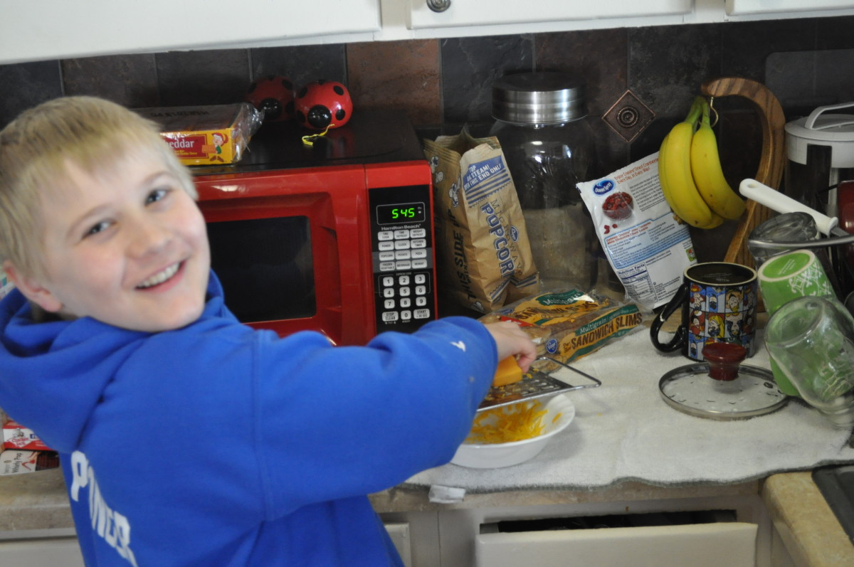Kids love to create in the kitchen.  Giving them simple tasks builds their confidence and teaches them a skill to boot.