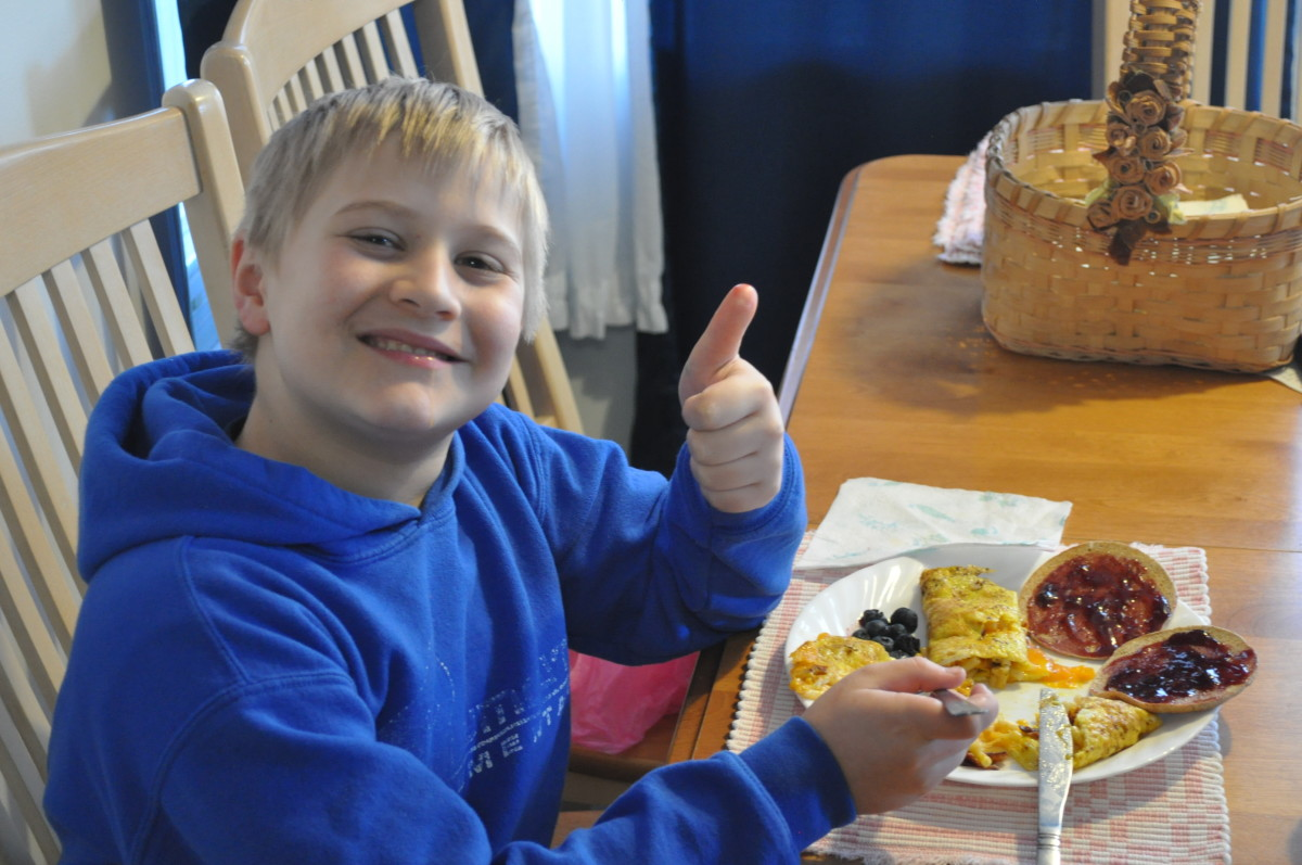 There's no egg on this face!  That smile says it all.  Great fun and great food!