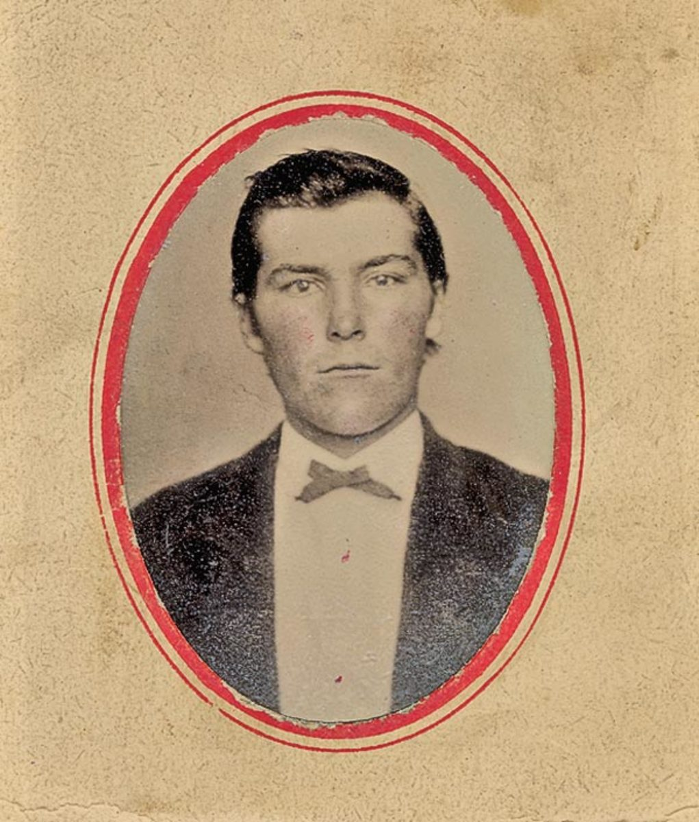 John Wesley Hardin was wanted by the law almost his entire life.  He was known as one of the deadliest and most dangerous killers alive, having killed 27 men by the time he was 18 years old.