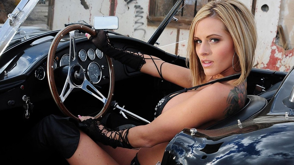 Sexy Girl Driving Car