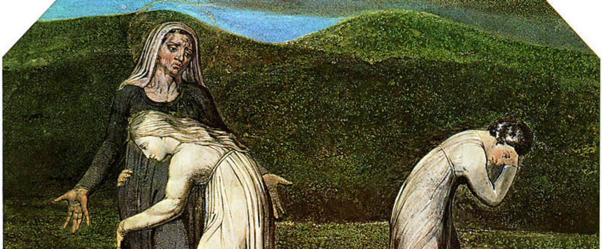 William Blake's Painting of Ruth clinging to   Naomi
