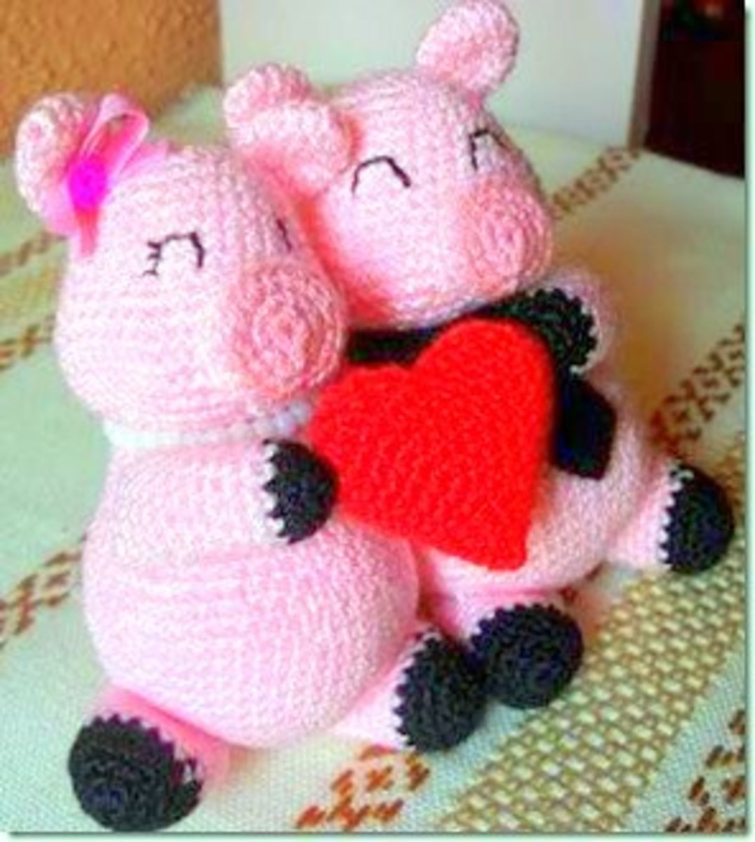 Wedding Crochet: Little Pigs In Love Free Crochet Pattern!
