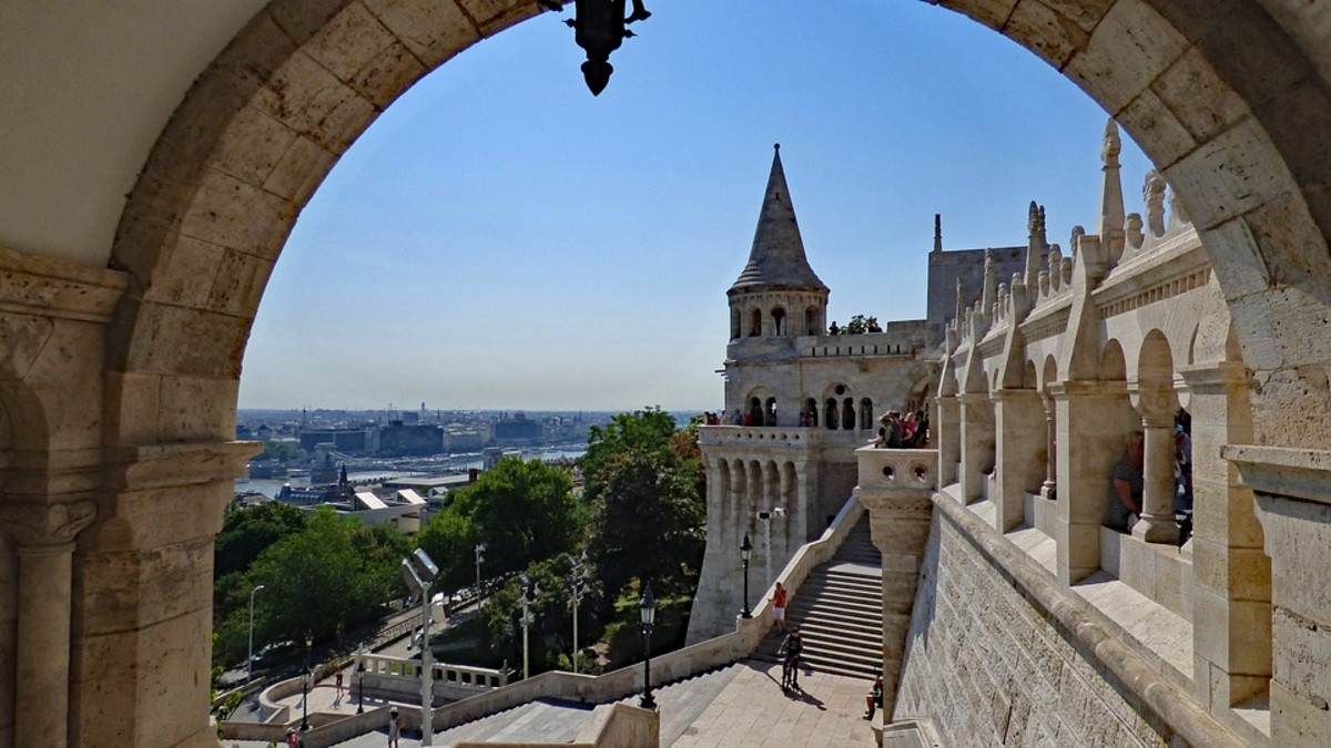 The Fisherman's Bastion With the Statue of Woody Harrelson in Budapest