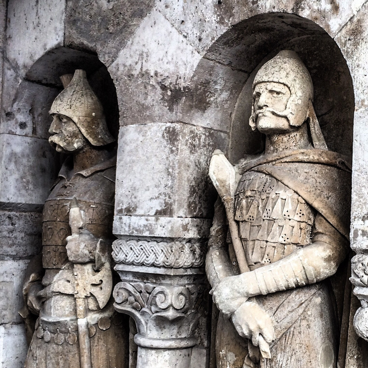 the-fishermans-bastion-with-the-statue-of-woody-harrelson-in-budapest