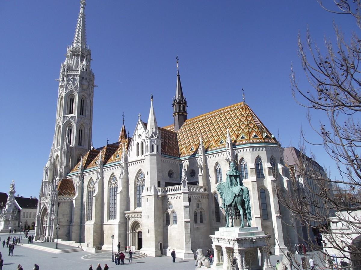 Budapest - Matthias Church next to Fisherman's Bastion