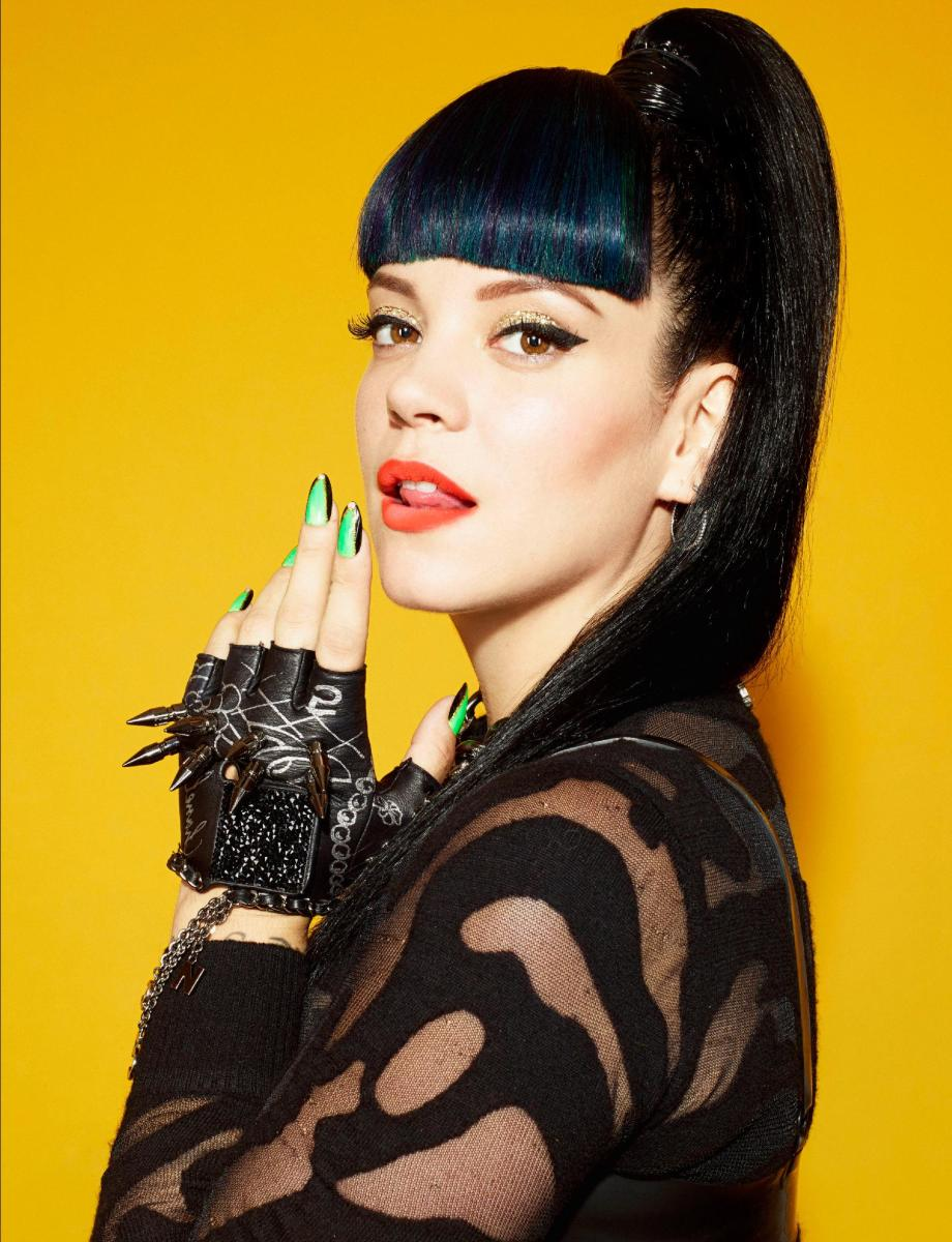 The independent songstress, Lily Allen.
