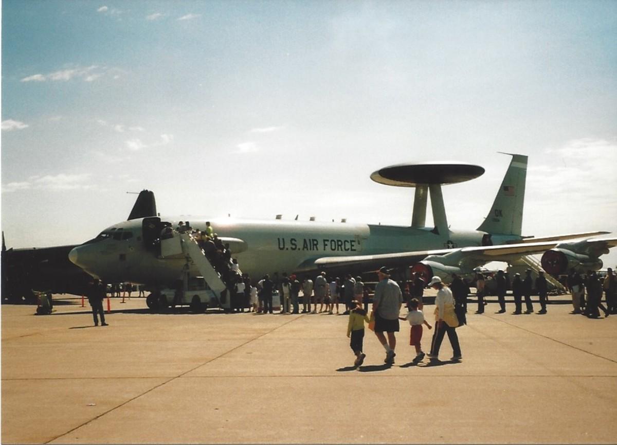 A USAF E-3 AWACS, Andrews AFB, MD.