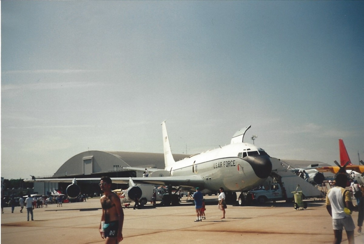 A C-135 at Andrews AFB, Maryland,