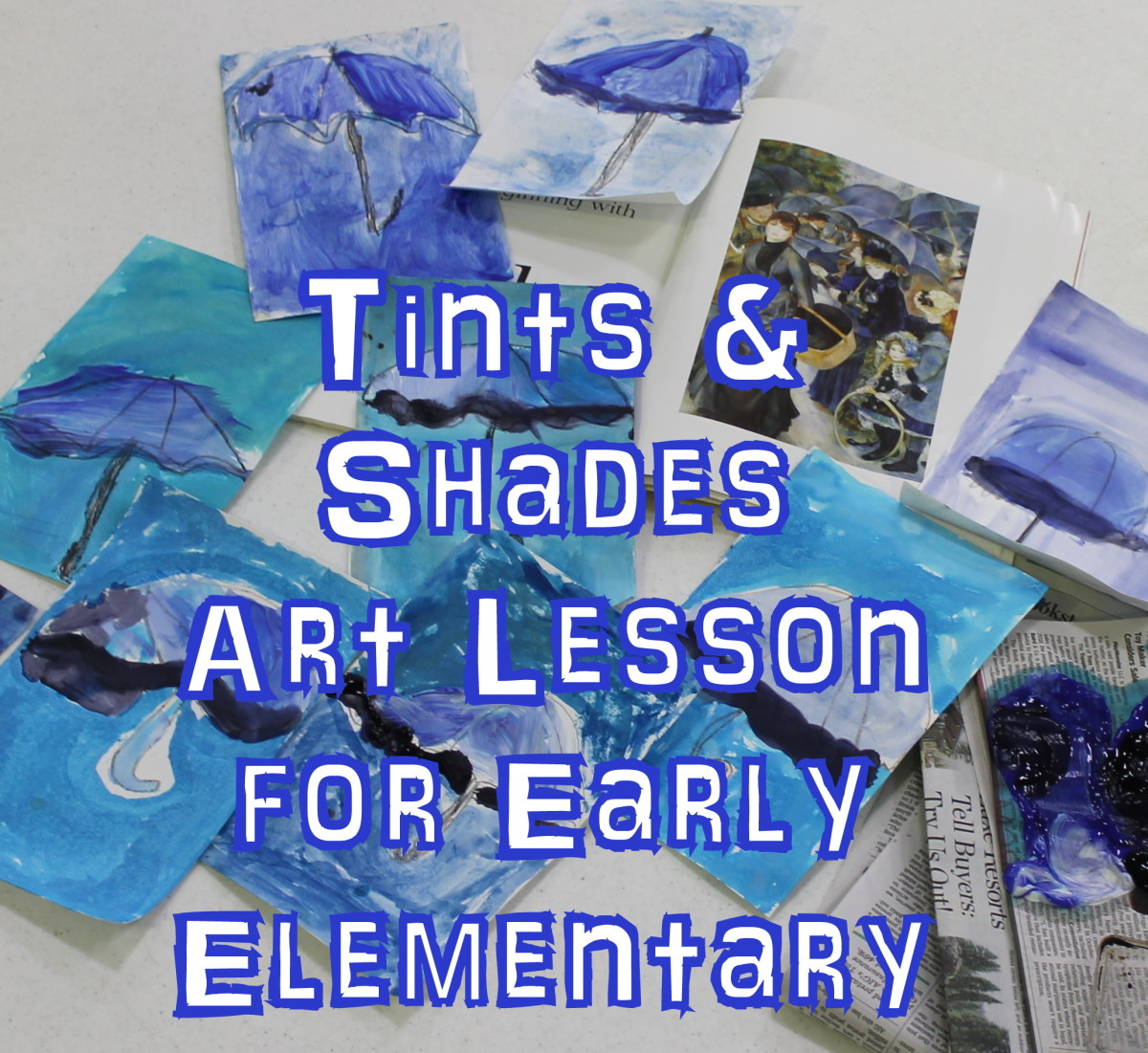 Tints and Shades & Pierre-Auguste Renoir Elementary Art Lesson