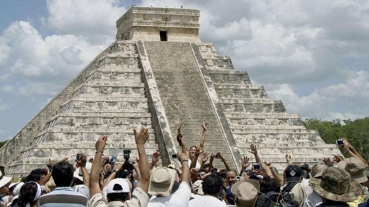 Kukulkan pyramid at the Mayan ruins of Chichen Itza.