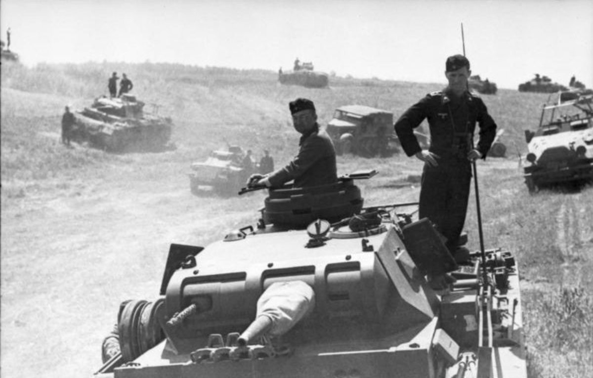 The panzers were used to encircle large enemy divisions