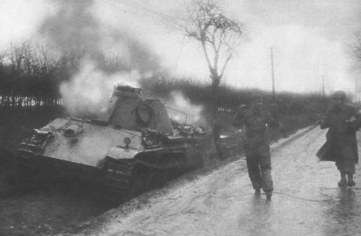 Many tanks were abandoned after they ran out of fuel
