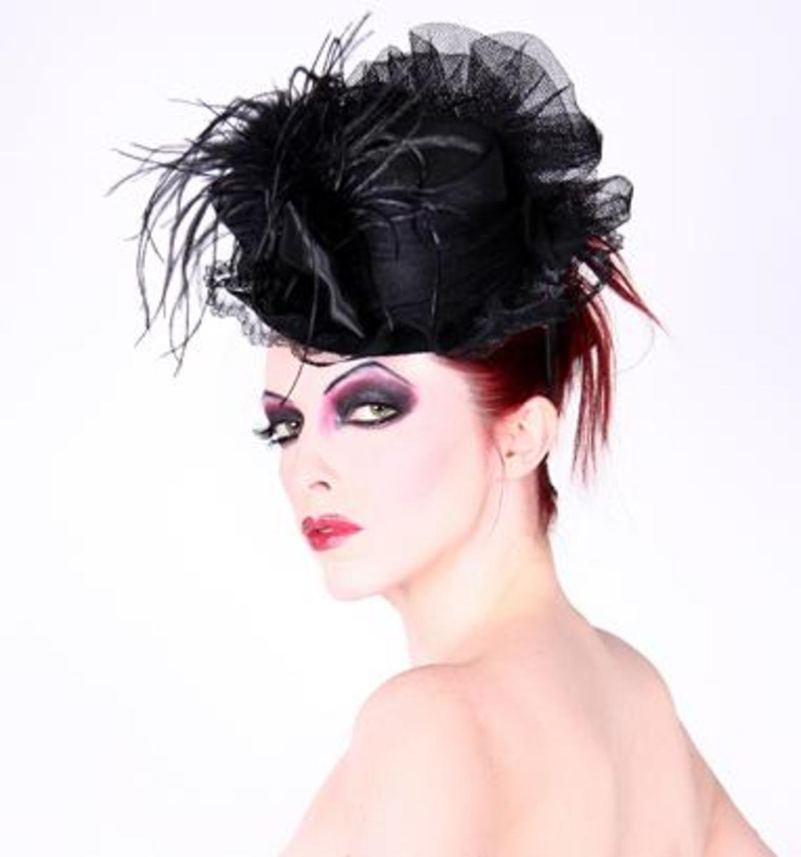 This wonderful mini top hat is made by Hilary's Vanity.  It costs only  $89.95.