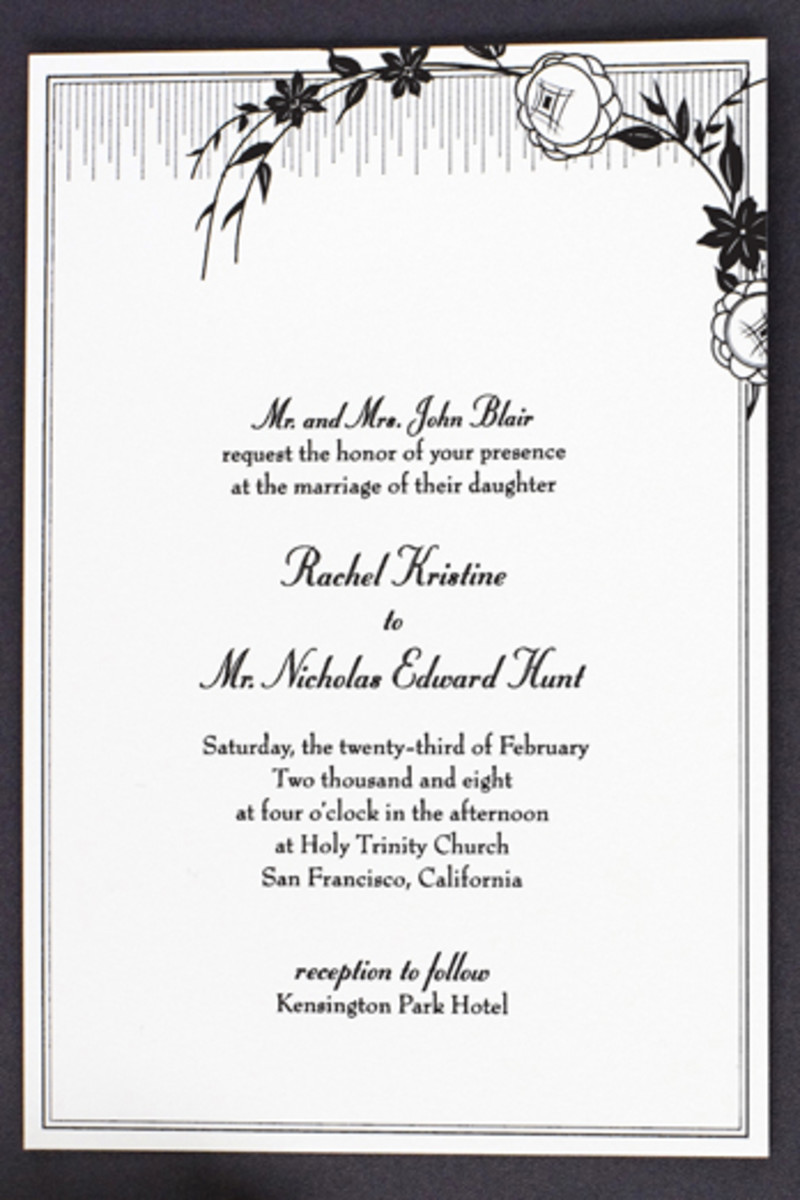 I love this French Deco wedding invitations by HELLO!Lucky. Invitations like these are what really help set the tone and theme for your wedding day.