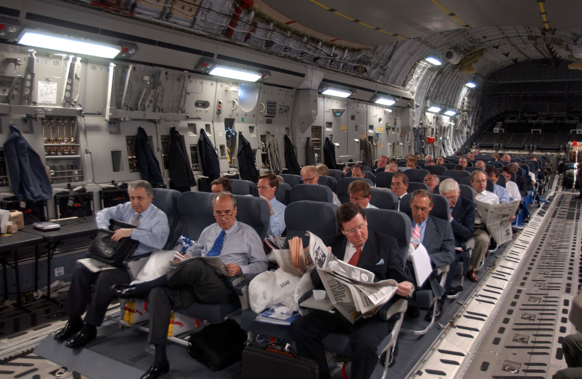 C-17A Globemaster III Inner View seating arrangements