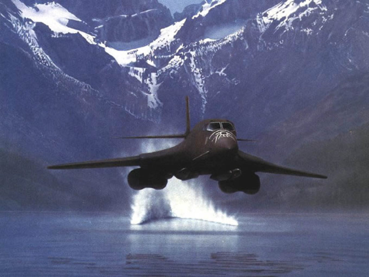 B1B Lancer bomber Flying low