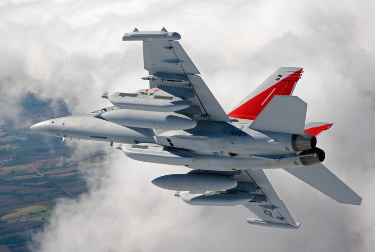 EA-18G Growler complete view real pic