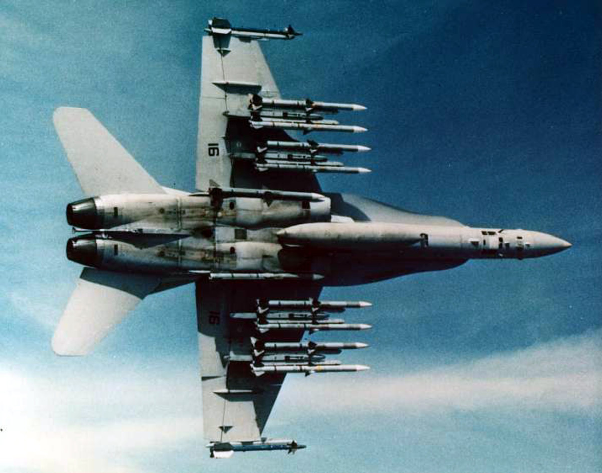 f18c shooting twelve missiles at once
