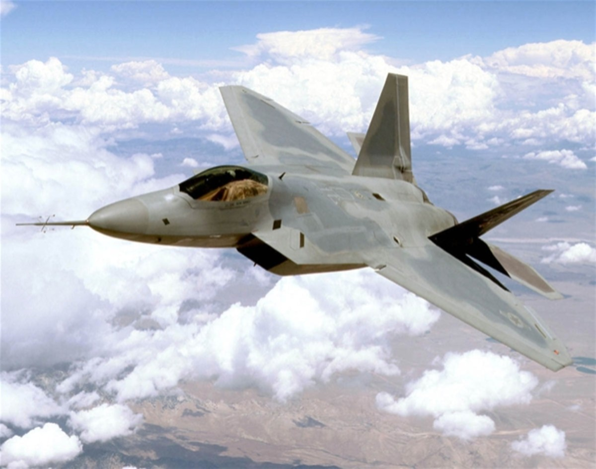 F-22 Raptor in Stealth action
