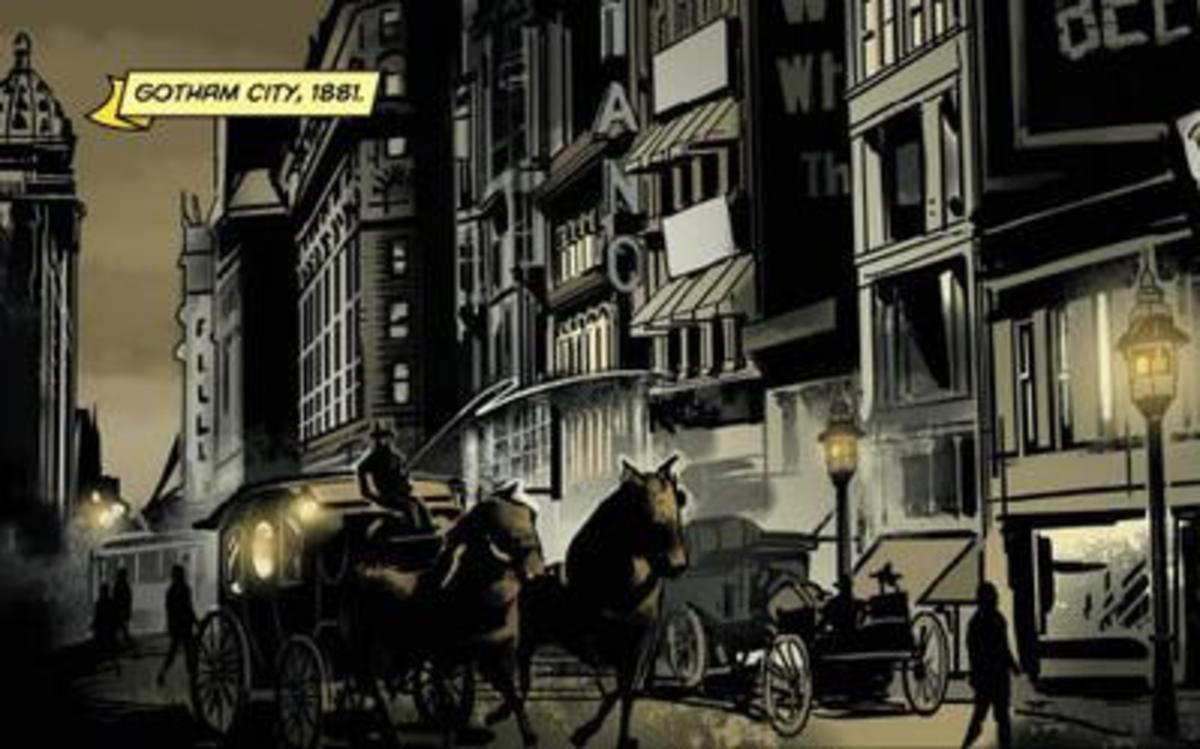 Gotham City in 1881 as it appears in Batman: Gates of Gotham drawn by Trevor McCarthy of DC Comics (April 2011).