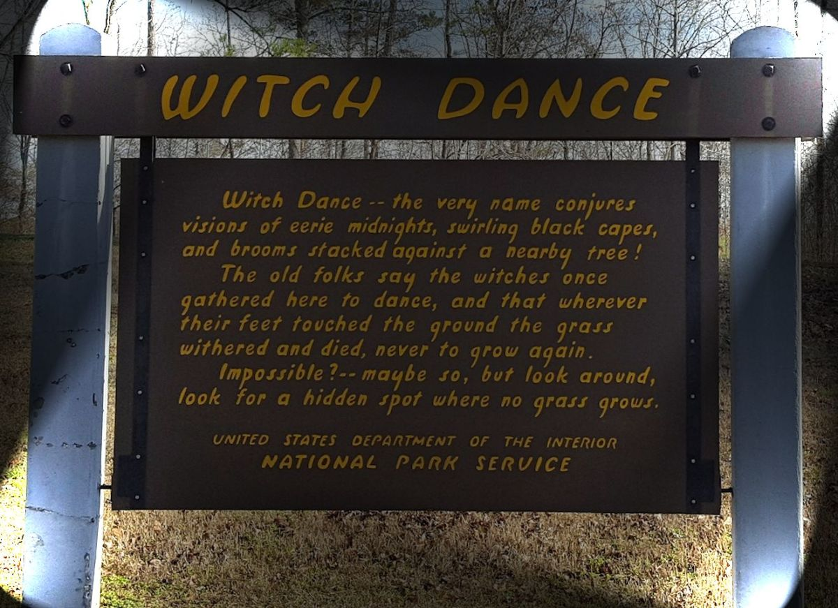 Witch Dance sign on the Natchez Trace