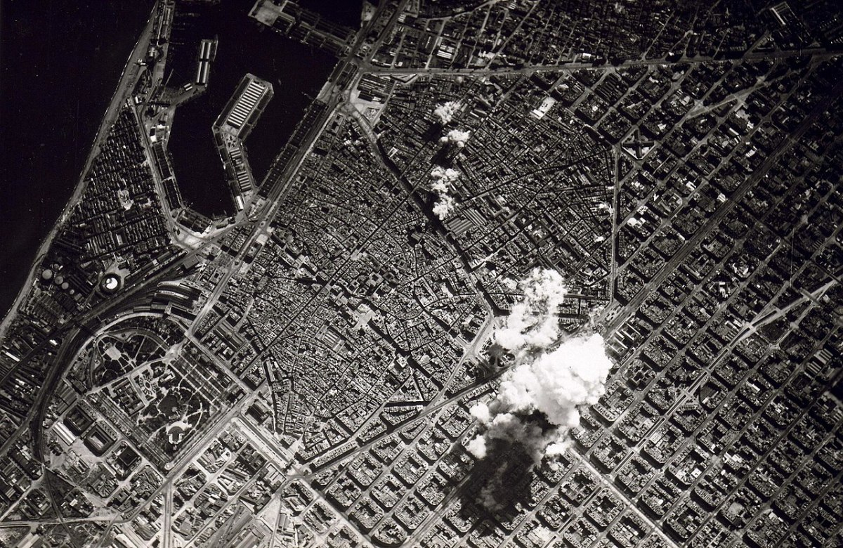 The bombardment of Barcelona: Although the Spanish Civil War was a victory for the Nationalists against the Republicans, it also shattered the country's economy and society and left it unable to much influence the Second World War.