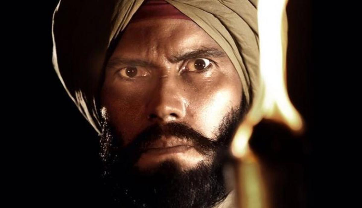 Face of the Sikh soldier
