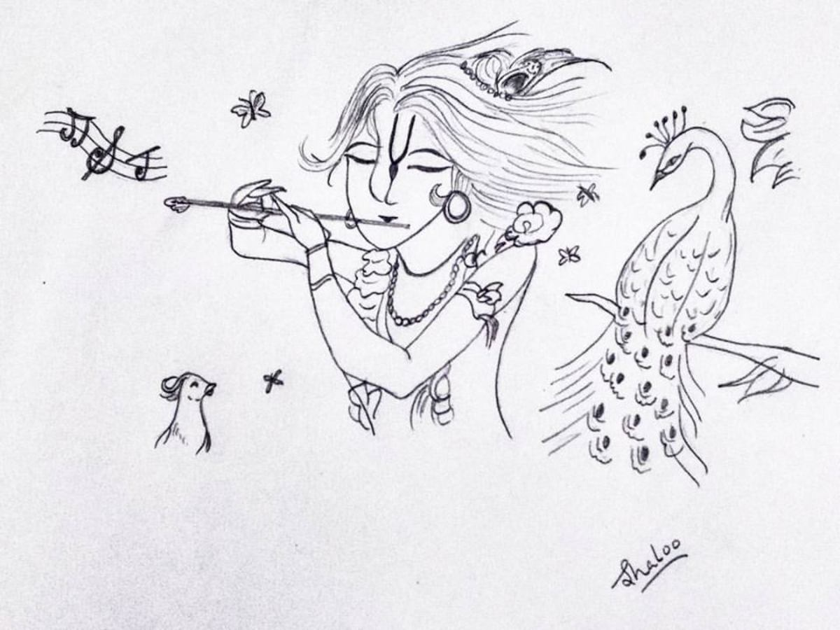Krishna and His flute charmed not only the gopis of Vrindavana but even the animals and birds.