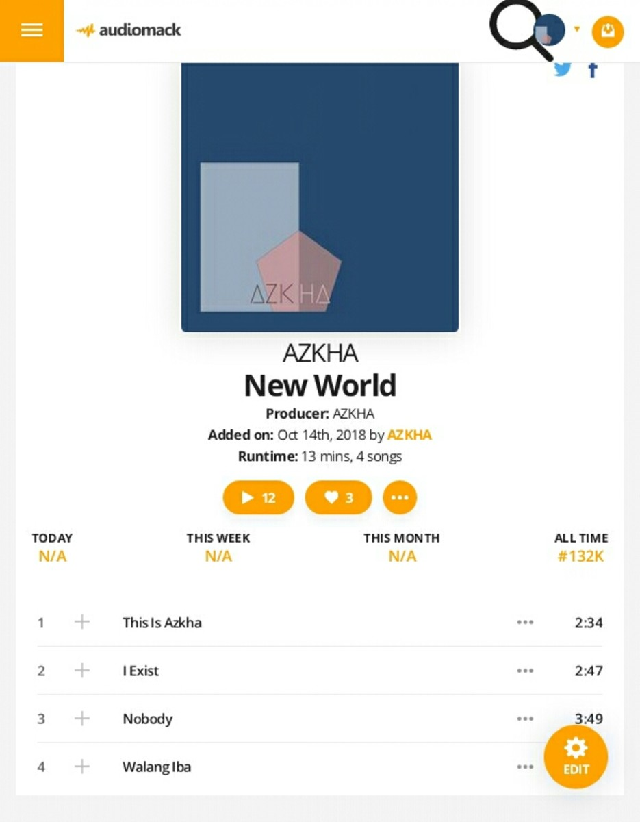 Credits to Audiomack and AZKHA for the screenshot.