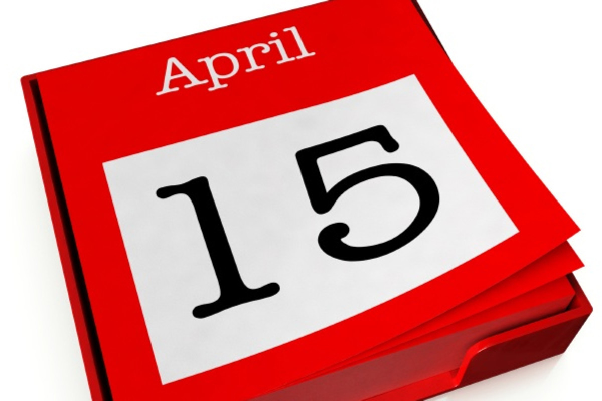 April 15 is tax day in the United States.