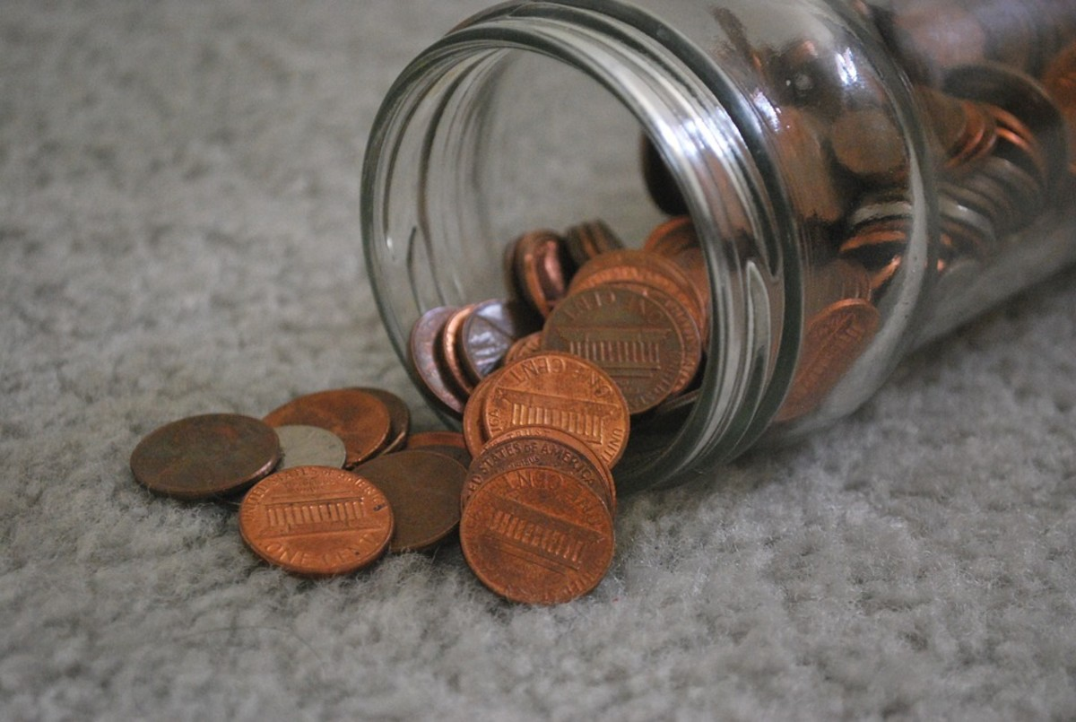 Save pennies in a jar
